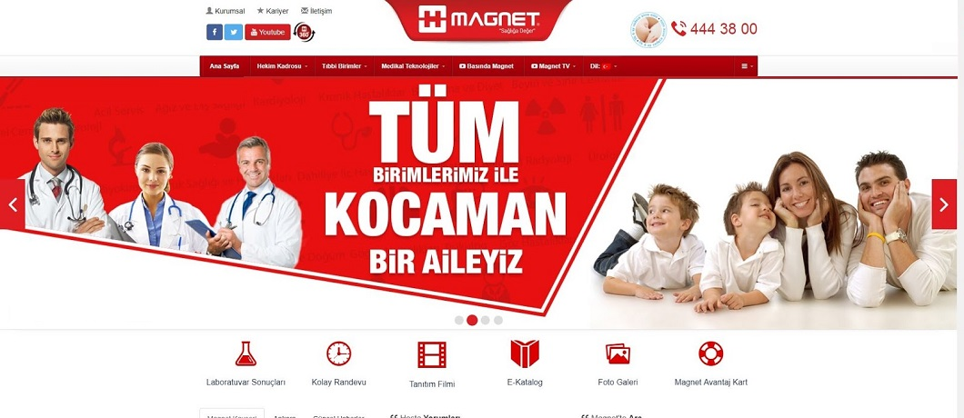 Magnet Hastane – WordPress Tema
